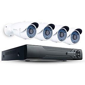 povoljno Sigurnosni sustavi-jooan® 2mp 4ch poe sigurnosni sustav visoke razlučivosti s 4pcs 1080p vanjskim poe ip kamerom