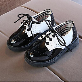 7cbbced7ffd7f Boys  Shoes PU(Polyurethane) Spring   Fall Comfort Oxfords Lace-up for Kids    Teenager White   Black