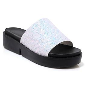 53d3a36f4 Women s PU(Polyurethane) Summer Slippers   Flip-Flops Flat Heel White    Black   Pink