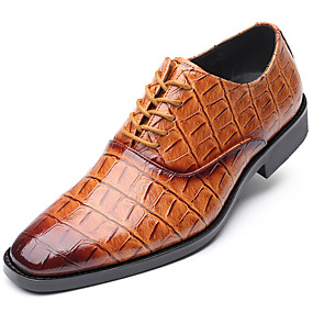 cheap New Arrivals-Men's Formal Shoes Synthetics Spring &  Fall Casual / British Oxfords Non-slipping Yellow / Coffee / Wine / Party & Evening