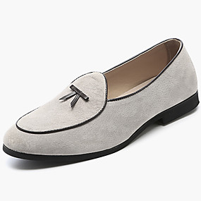 cheap New Arrivals-Men's Moccasin Suede Spring &  Fall Casual / British Loafers & Slip-Ons Non-slipping Beige / Gray / Brown