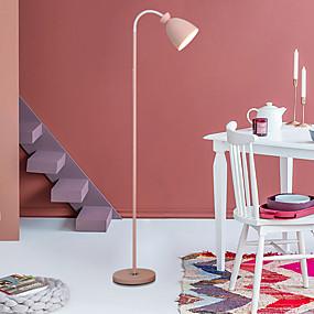 billige Lamper-ywxlight® 1pc 9w hjemme belysning hjem dekorasjon personlighet kreativ enkel macaron metall justerbar rotasjonsvinkel gulv lampe varm hvit 85-265v