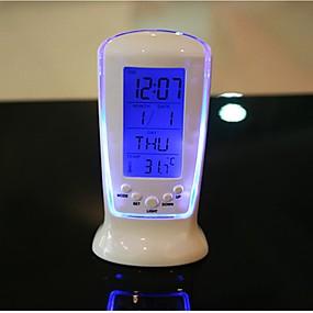 digitális led asztali ébresztőóra hőmérő időzítő naptár asztali dekor  lumineszcencia zene óra 8dafe4775f