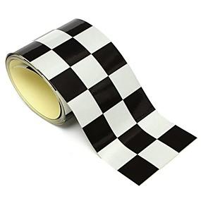 halpa Autotarrat-3 tuuman musta valkoinen ruudullinen lippu vinyyli tarra nauha auton moottoripyörän säiliön tarra