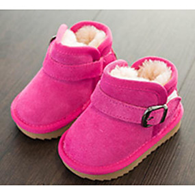 4ebcb833407 Girls  Shoes Suede Winter Comfort   Snow Boots Boots for Kids   Teenager  Black   Peach   Camel   Booties   Ankle Boots