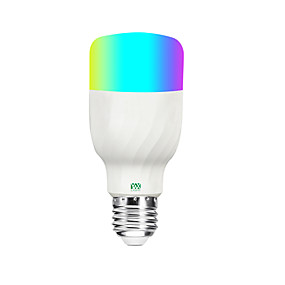 billige Globepærer med LED-ywxlight®1pc 7w rgbw høy kvalitet dimmable alexa stemme smartphone app fjernkontroll smart wifi pære ac 85-265v