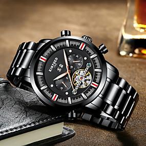 e97352cfa10 Homens Relógio de Pulso Quartzo Preta Relógio Casual Analógico Fashion -  Preto Azul   Aço Inoxidável