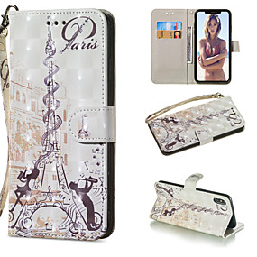 cheap New Arrivals-Case For Apple iPhone XR / iPhone XS Max Wallet / Card Holder / with Stand Full Body Cases Eiffel Tower Hard PU Leather for iPhone XS / iPhone XR / iPhone XS Max