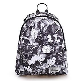 cheap School Bags-Unisex Bags Polyester Backpack Zipper Geometric Black / White