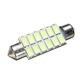 povoljno Svjetlo za registarske tablice-1 komad Festoon Automobil Žarulje 1.6 W SMD 5630 240~300 lm 12 LED Dnevna svjetla / Svjetlo za registarske tablice / Žmigavac svjetlo Za Sve godine