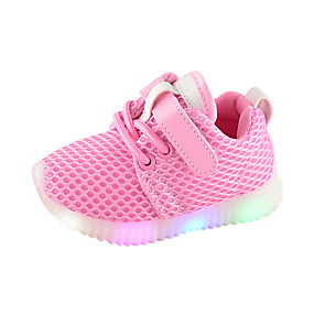 1e313d91a703c Boys    Girls  Shoes Mesh Spring   Fall Comfort   Light Up Shoes Sneakers  for Kids White   Black   Pink