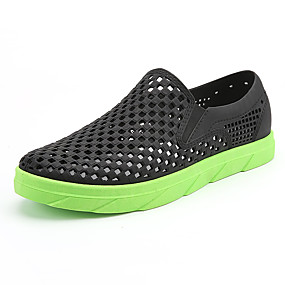 baratos Sandálias Masculinas-Homens Sapatos Confortáveis Borracha Primavera Verão Casual Sandálias Respirável Preto / Azul / Marron