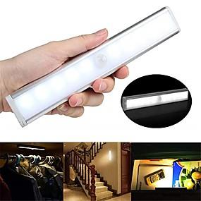 billige LED-kabinetlamper-1pc 100 lm 10 LED Perler Infrarød sensor Let Instalation Lyssensor LED-kabinetlamper Varm hvid Hvid Hjem / kontor Køkken Soveværelser / RoHs / CE