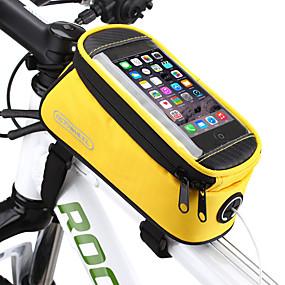 preiswerte Fahrradrahmentaschen-ROSWHEEL Handy-Tasche Fahrradrahmentasche 5.5 Zoll Touchscreen Wasserdicht Radsport für Samsung Galaxy S6 LG G3 Samsung Galaxy S4 Blau / Schwarz Rot Blau Radsport / Fahhrad / iPhone X / iPhone XR