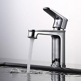 abordables Offres de la Semaine-Robinet lavabo - Séparé Chrome / Bronze huilé / Noir Set de centre Mitigeur un trouBath Taps