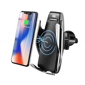 Недорогие 30%OFF-Bestsin Ци беспроводное автомобильное зарядное устройство держатель телефона 10 Вт быстрая зарядка гравитационная связь вентиляционная решетка