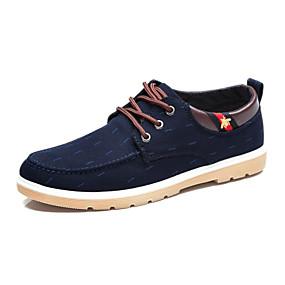 baratos Tênis Masculino-Homens Sapatos Confortáveis Lona Primavera Verão / Outono & inverno Tênis Fitness / Caminhada Use prova Preto / Azul Escuro