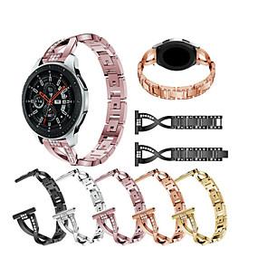 voordelige Telefoons en accessoires-Horlogeband voor Gear S3 Frontier / Gear S3 Classic / Samsung Galaxy Watch 46 Samsung Galaxy Sportband / Sieradenontwerp Roestvrij staal Polsband