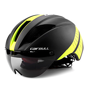 ieftine Lichidare Stoc-CAIRBULL Adulți Cască de Bicicletă cu Ochelari Casca Aero 11 Găuri de Ventilaţie CE EN 1077 Rezistent la Impact Lumina Greutate Ventilație EPS PC Sport Bicicletă montană Ciclism stradal Echitație -