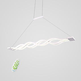 cheap Pendant Lights-4-Light Linear Pendant Light Downlight Others Metal Acrylic Mini Style, LED 110-120V / 220-240V Warm White / White / Dimmable With Remote Control Bulb Included / LED Integrated