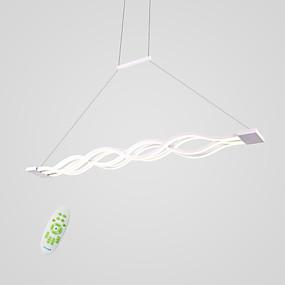 billige Hengelamper-4-Light Lineær Anheng Lys Nedlys Andre Metall Akryl Mini Stil, LED 110-120V / 220-240V Varm Hvit / Hvit / Dimbar med fjernkontroll Pære Inkludert / Integrert LED