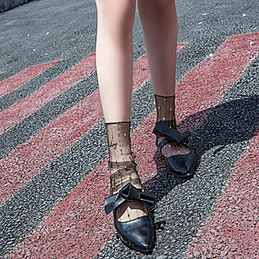 povoljno Čarape-1 par Žene Čarape Standard Na točkice Dezodorans Sweet Style Najlon EU36-EU46