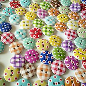 저렴한 공예&바느질-100PCS PF bakelite Buttons Snaps 체크(격자) 무늬 보편적 단추 Clothing Accessories