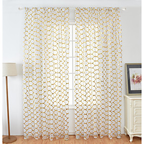 cheap Sheer Curtains-Contemporary Sheer One Panel Sheer Living Room   Curtains