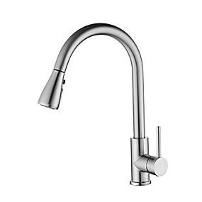abordables Spray Amovible-Robinet de Cuisine - Mitigeur un trou Pull-out / Pull-down Autre Moderne Kitchen Taps