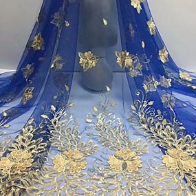 povoljno Novo u ponudi-Afrička čipka Cvjetnih Uzorak 120 cm širina tkanina za Posebne prilike prodan od 5Yard