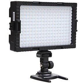 cheap Lighting & Studio-Falcon Eyes 216 Bi-Color LED Video Light Lamp Dimmable for illuminating Photographing or Filming for Canon Nikon Camera DV-216VC
