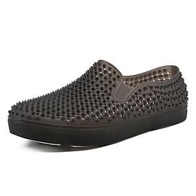 baratos Sapatilhas e Mocassins Masculinos-Homens Sapatos Confortáveis PVC Primavera Verão Casual Mocassins e Slip-Ons Respirável Preto / Cinzento / Azul