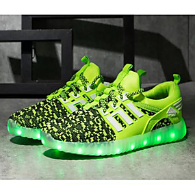 povoljno Dječje cipele-Dječaci Tkanina Atletičarke tenisice Mala djeca (4-7s) / Velika djeca (7 godina +) Udobne cipele / Svjetleće tenisice LED Zelen / Navy Plava / Crvena Proljeće / Jesen / TPE (Termoplastični elastomer)