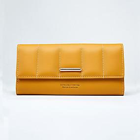 Недорогие Обувь и сумки-Жен. Бумажники PU Сплошной цвет Серый / Лиловый / Желтый / Наступила зима