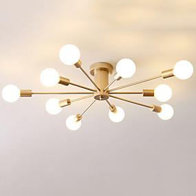 cheap Ceiling Lights & Fans-JSGYlights 10-Light Linear Flush Mount Lights Ambient Light Painted Finishes Metal 110-120V / 220-240V