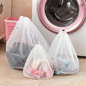 povoljno Oprema za kupaonice-odjeća mrežaste vrećice zippered fine linije drawstring vrećica za pranje rublja bračno rublje zaštitne vrećice za pranje rublja za perilice rublja
