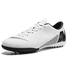 4a33048f32 Homens Sapatos Confortáveis Couro Ecológico Primavera Verão Esportivo Tênis  Futebol Não escorregar Slogan Preto / Laranja / Azul Real