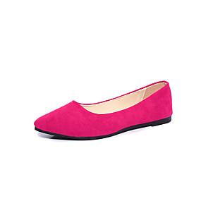 voordelige Damesschoenen met platte hak-Dames PU Lente & Herfst / Lente zomer Platte schoenen Platte hak Gepuntte Teen Fuchsia / Licht Roze / Marine Blauw