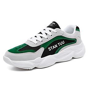 bdd2c954780 Homens Sapatos Confortáveis Sintéticos Primavera Verão Esportivo   Casual  Tênis Corrida   Caminhada Respirável Estampa Colorida Branco   Preto    Vermelho ...
