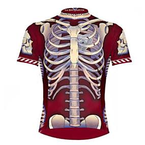 df3b82b574 olcso -0.5-Malciklo Férfi Rövid ujjú Keréspáros dzsörzé Piros / Fehér  Csontváz Kerékpár Dzsörzé