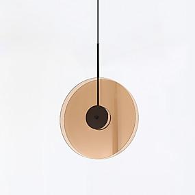 abordables Plafonniers-CONTRACTED LED® Géométrique Lampe suspendue Lumière d'ambiance Finitions Peintes Verre Verre Mat, Créatif 110-120V / 220-240V