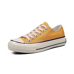 voordelige Damessneakers-Dames Canvas Lente zomer Klassiek / minimalisme Sneakers Wandelen Platte hak Ronde Teen Geel / Blauw / Roze