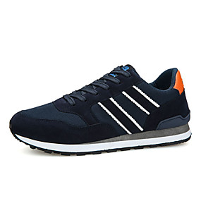 cheap Running Shoes-Men's Comfort Shoes PU(Polyurethane) / Synthetics Spring & Summer Sporty Athletic Shoes Running Shoes Black / Dark Blue / Gray