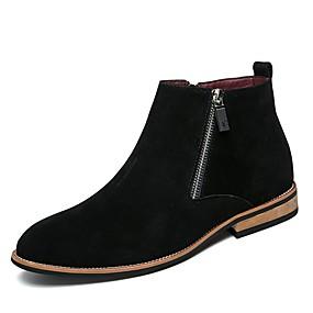 16f781b4da19 Herre Fashion Boots Syntetisk Efterår vinter Klassisk   Afslappet Støvler  Ikke-glider Ankelstøvler Sort   Grå   Brun