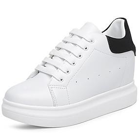 voordelige Damessneakers-Dames Synthetisch Lente & Herfst Sportief / Informeel Sneakers Sleehak Wit / Zwart / Roze