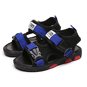 3037d2d681d7 Boys  Shoes Canvas Summer Comfort Sandals for Kids   Teenager Black   Red    Blue