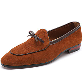 529fc4fc6f61e4 Men's Formal Shoes Suede Spring Business / Casual Loafers & Slip-Ons  Non-slipping Black / Coffee / Brown