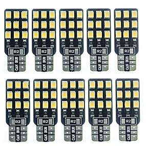 povoljno Svjetla bočnih markera-SENCART 10pcs T10 Automobil Žarulje 2 W SMD 2838 180 lm 18 LED Svjetlo za registarske tablice / Žmigavac svjetlo / Svjetlo za rad Za Univerzális Sve godine