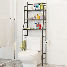 cheap Storage Solution-bathroom shelves storage rack stainless steel floor type simple assembly can be removed move washing machine shelf furniture