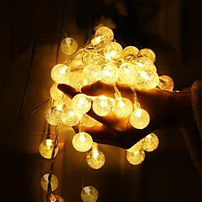 1 5m String Lights 10 Leds Warm White Decorative Aa Batteries Ed Set